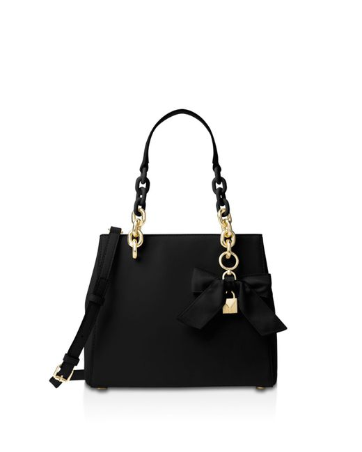 MICHAEL Michael Kors | Black Cynthia Small Convertible Leather Satchel | Lyst