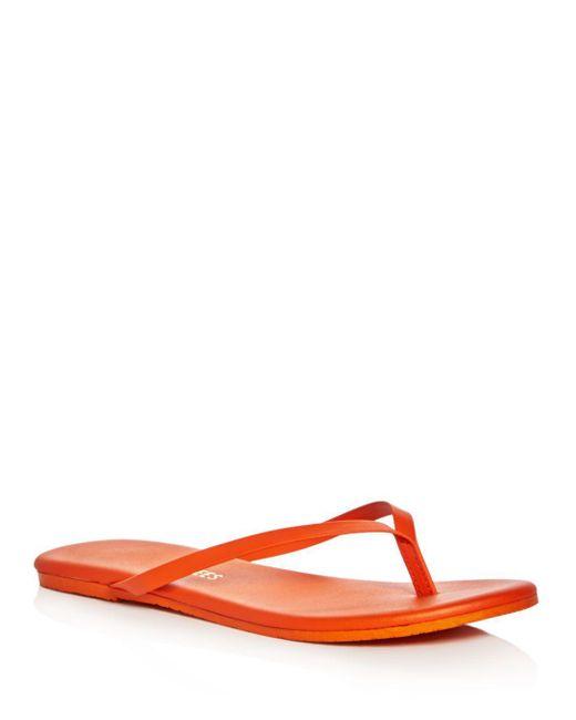 TKEES - Red Solids Flip-flops - Lyst