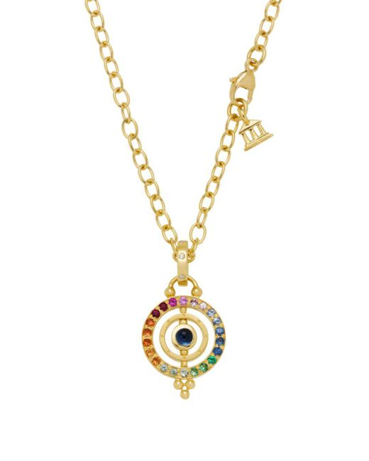 Temple St. Clair - Multicolor 18k Gold Mini Tolomeo Pendant With Multi-colored Sapphires And Diamonds - Lyst