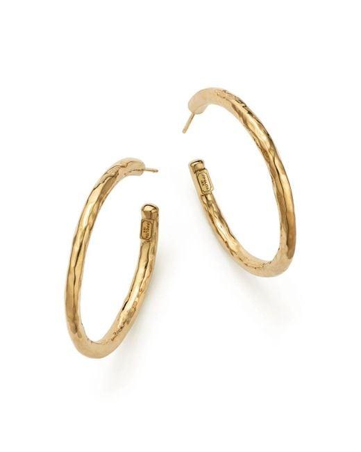 Ippolita - Metallic 18k Yellow Gold Glamazon #3 Hoop Earrings - Lyst