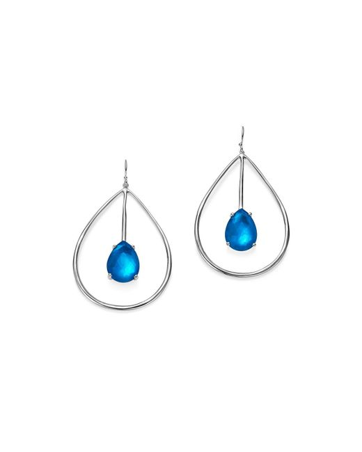 Ippolita - Metallic Sterling Silver Rock Candy® Wonderland Large Pear Shape Drop Earrings In Ultramarine - Lyst