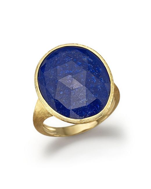 Marco Bicego | Blue 18k Yellow Gold Lapis Ring | Lyst
