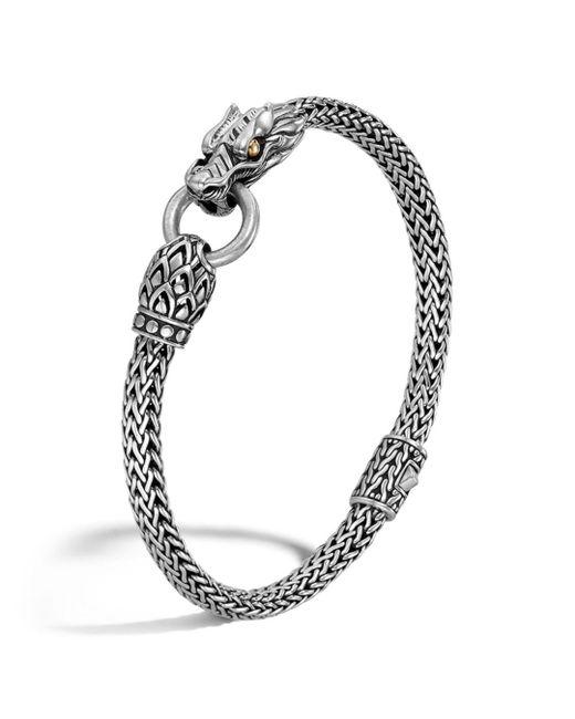 John Hardy - Metallic Naga Gold And Silver Dragon Station Chain Bracelet - Lyst
