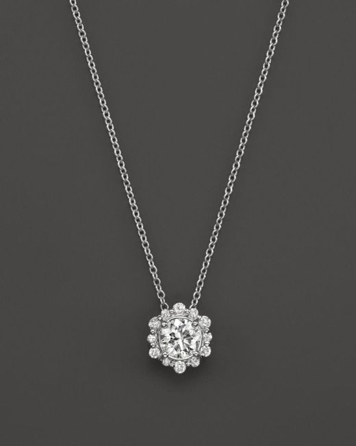 Bloomingdale's - Diamond Pendant Necklace In 14k White Gold, .50 Ct. T.w. - Lyst