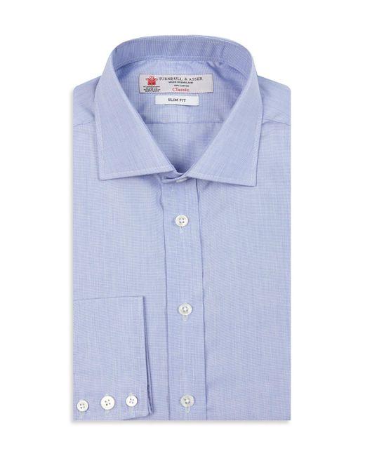 Turnbull & Asser | Blue End-on-end Slim Fit Dress Shirt for Men | Lyst