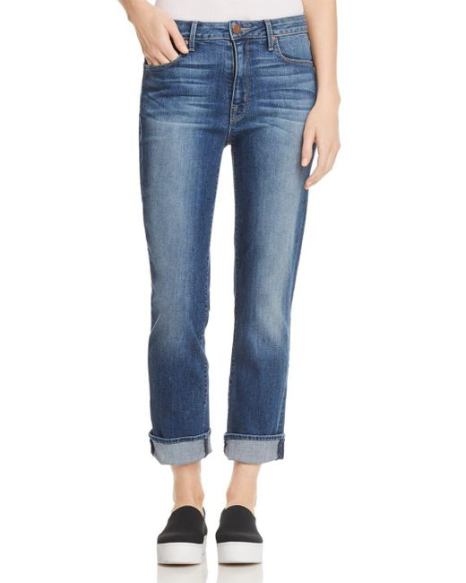 Parker Smith - Blue Pinup Straight Cropped Jeans In Dark Sea - Lyst