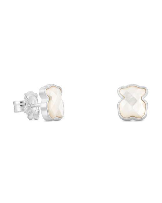 Tous - Metallic Mother-of-pearl Bear Stud Earrings - Lyst