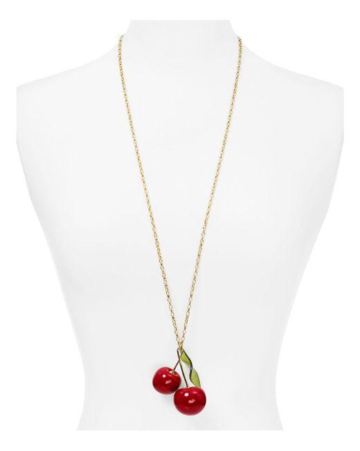Kate Spade | Multicolor Cherry Pendant Necklace | Lyst