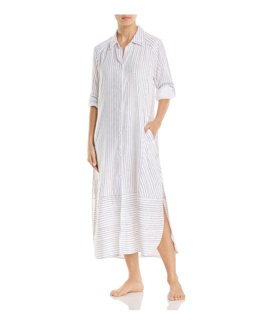 DKNY | White Long Sleepshirt | Lyst