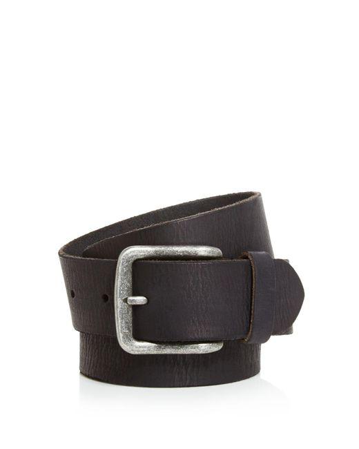 John Varvatos | Black Artisan Textured Leather Belt for Men | Lyst