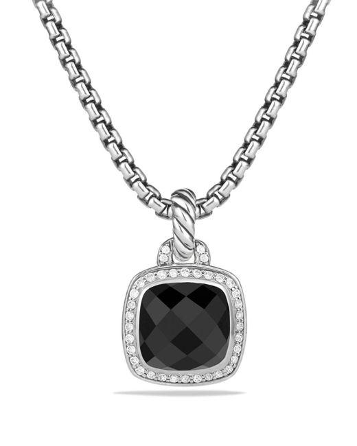 David Yurman - Albion Pendant With Black Onyx And Diamonds - Lyst