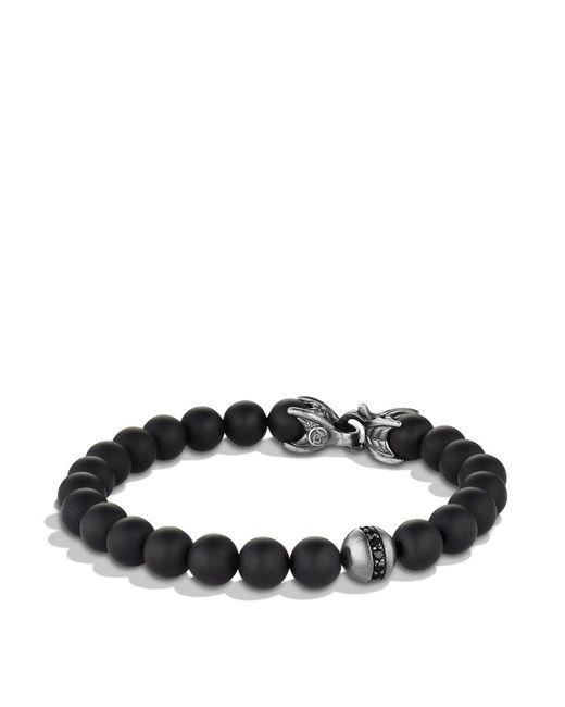 David Yurman - Metallic Spiritual Beads Bracelet With Black Onyx & Black Diamonds for Men - Lyst