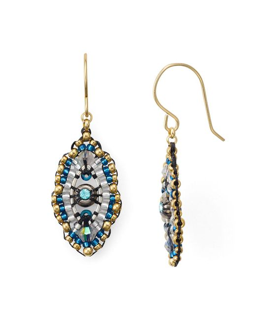 Miguel Ases | Multicolor Beaded Drop Earrings | Lyst