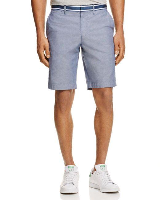 Original Penguin - Blue Grosgrain Trim Oxford Shorts for Men - Lyst