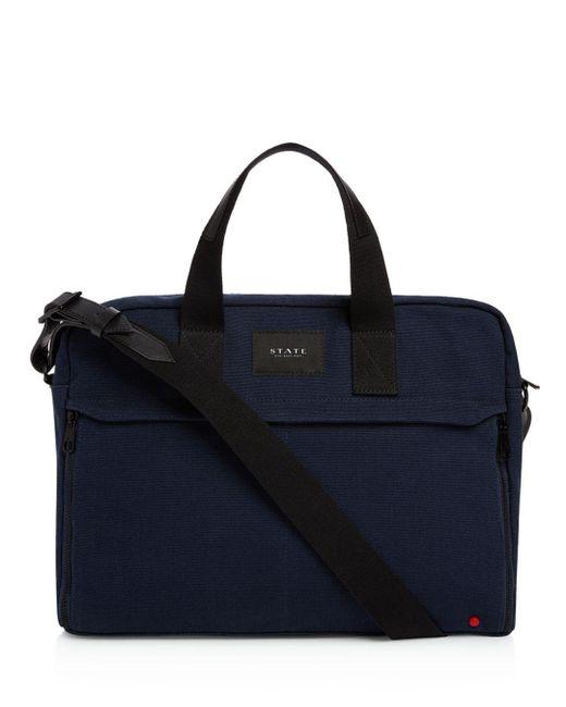State - Blue Canvas Preston Briefcase for Men - Lyst