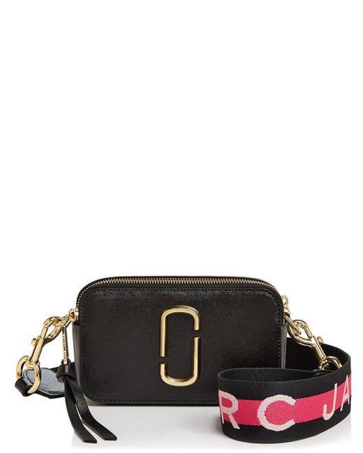 Marc Jacobs - Black Snapshot Leather Crossbody Bag - Lyst