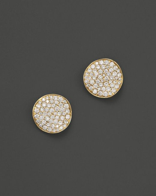 Ippolita - Metallic 18k Gold Stardust Mini Studs With Diamonds - Lyst