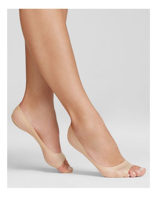 Hue | Natural Perfect Edge Peep Toe Liner Socks | Lyst