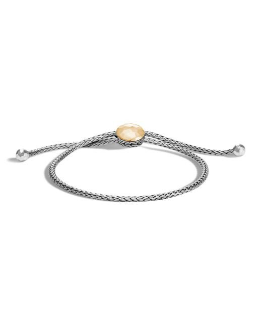 John Hardy - Metallic Sterling Silver And 18k Bonded Gold Classic Chain Hammered Ball Bracelet - Lyst