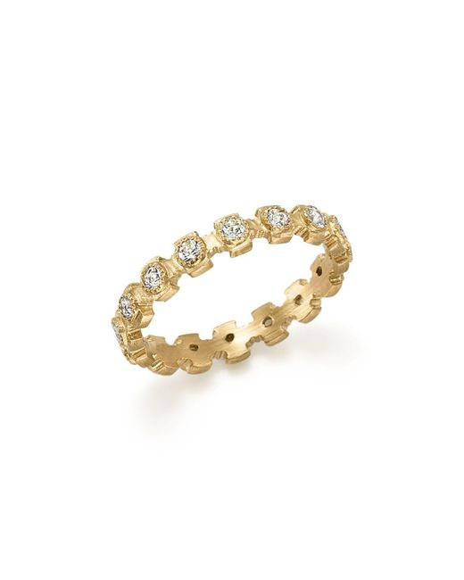 Armenta | Metallic 18k Yellow Gold Sueno Diamond Stacking Ring | Lyst