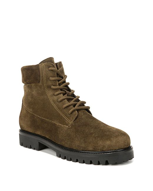 vince s farley suede lace up combat boots in brown