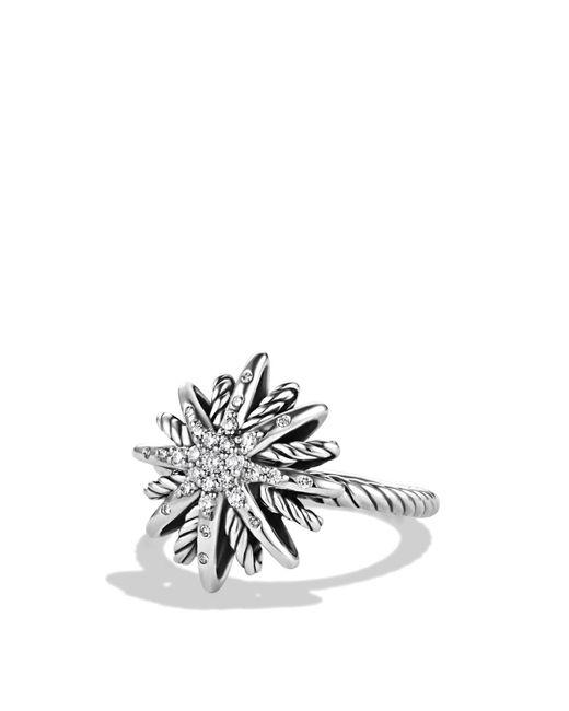 David Yurman   Metallic Starbust Ring With Diamonds   Lyst