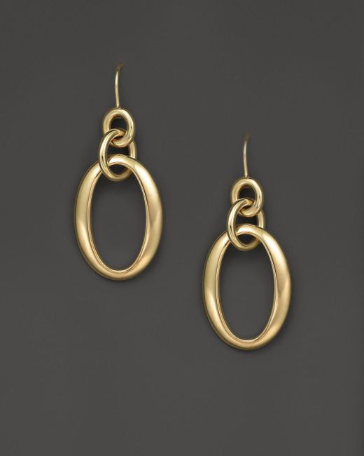 Ippolita - Metallic 18k Gold Glamazon Short Oval Link Earrings - Lyst