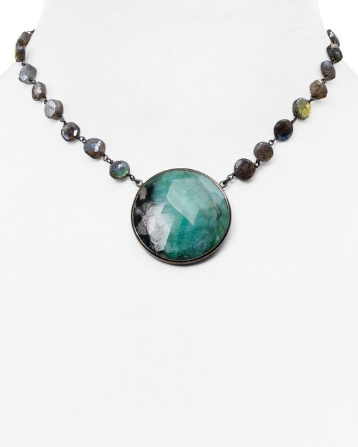 Ela Rae - Metallic The Morah Emerald Choker Necklace - Lyst