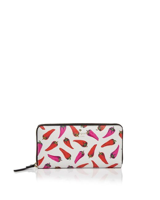 Kate Spade | Multicolor Lacey Hot Pepper Print Wallet | Lyst
