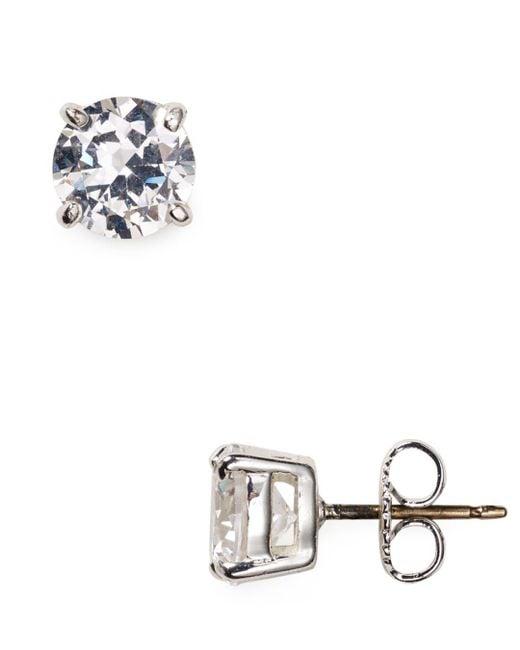 Carolee - Metallic Small Cubic Zirconia Stud Earrings - Lyst