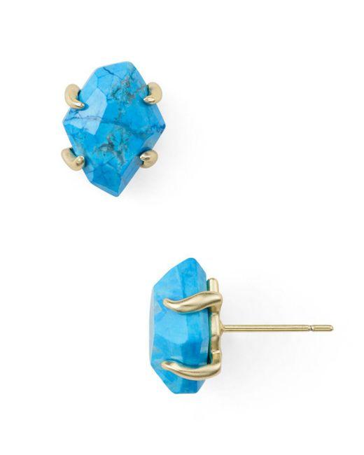 Kendra Scott - Blue Inaiyah Stud Earrings - Lyst