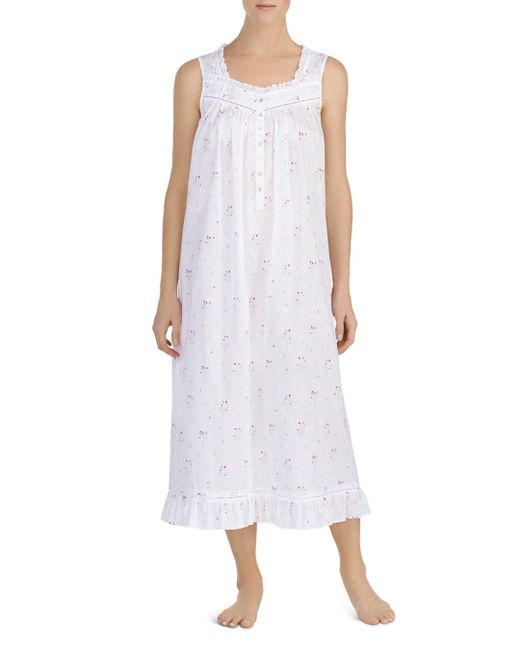 Eileen West - White Sleeveless Ballet Nightgown - Lyst