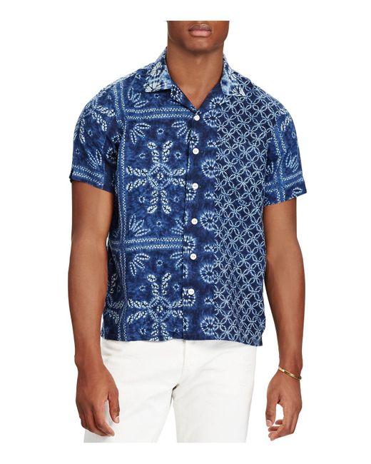 Polo Ralph Lauren | Blue Classic Fit Button-down Camp Shirt for Men | Lyst