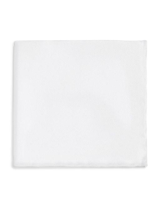 Bloomingdale's - White Silk Pocket Square for Men - Lyst