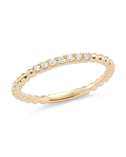Dana Rebecca | Metallic 14k Rose Gold Poppy Rae Band Ring With Diamonds | Lyst