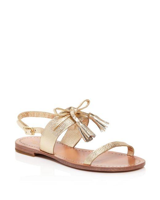 Kate Spade   Carlita Metallic Leather Slingback Sandals   Lyst
