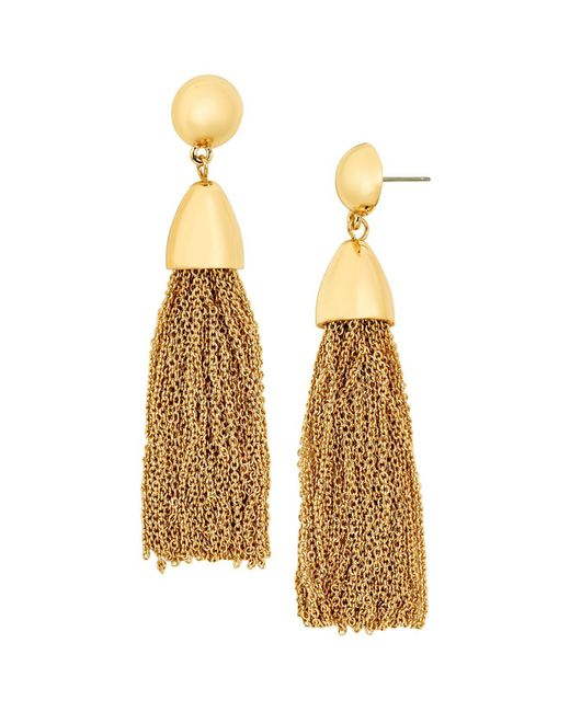 BaubleBar | Metallic Tassel Link Drop Earrings | Lyst
