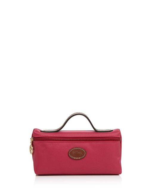 9e6a99e99dbc Longchamp - Red Le Pliage Nylon Cosmetics Case - Lyst ...