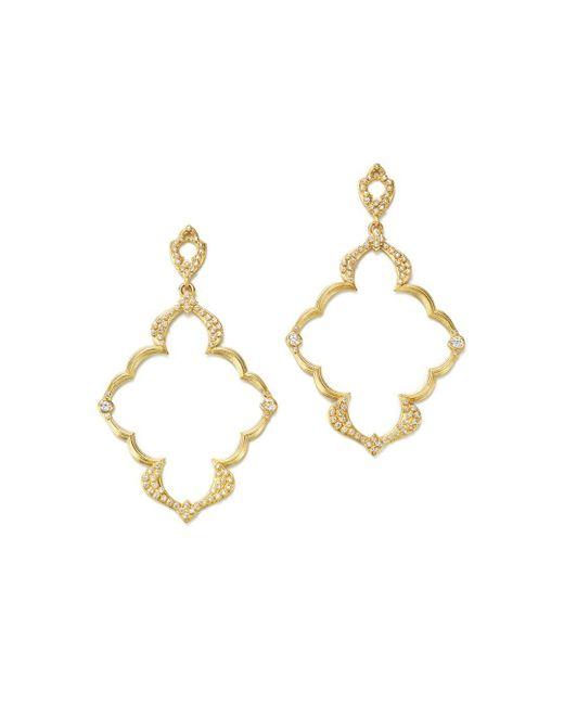 Armenta - Metallic 18k Yellow Gold Sueno Dulcinea Diamond Cravelli Earrings - Lyst