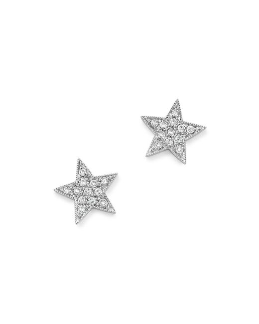 Dana Rebecca | Diamond Julianne Himiko Star Earrings In 14k White Gold | Lyst
