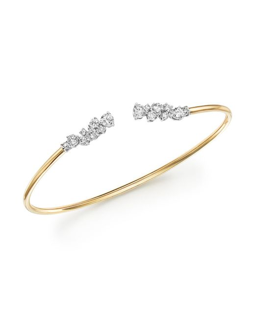 gold fine carat hinged white bangles diamond bangle bracelet