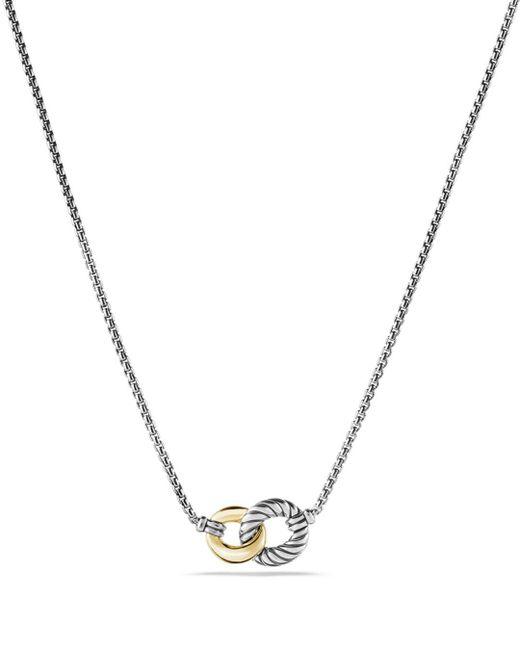 David Yurman - Metallic Belmont Necklace With 18k Gold - Lyst