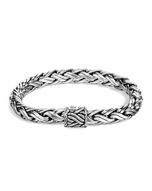 John Hardy - Metallic Men's Classic Chain Sterling Silver Medium Woven Bracelet for Men - Lyst