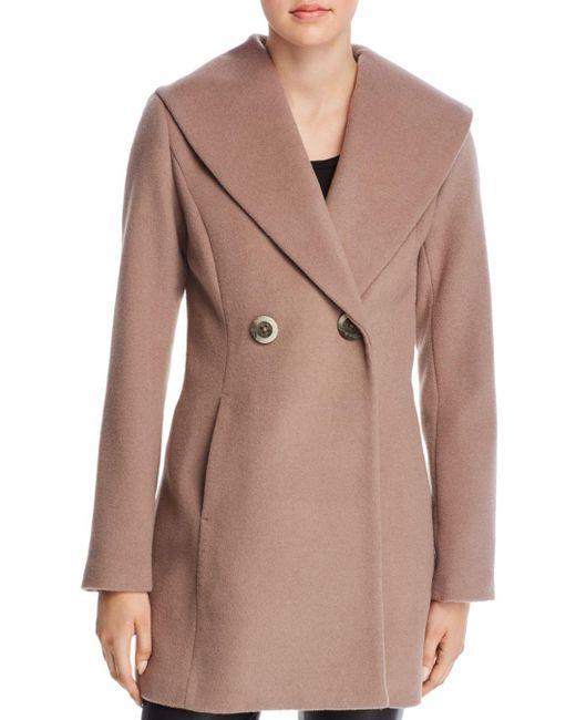 T Tahari - Multicolor Colette Oversized Shawl Collar Coat - Lyst