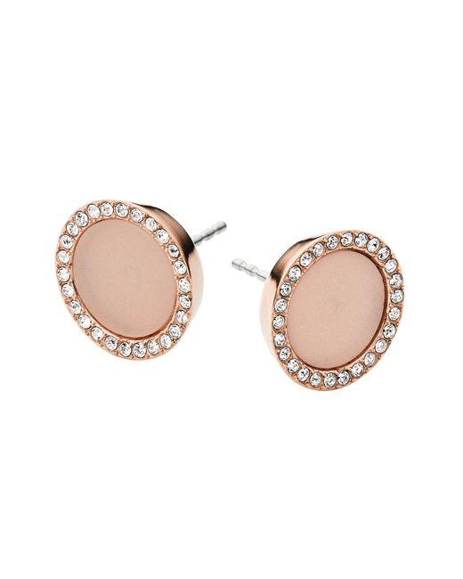 Michael Kors   Pink Pavé Stud Earrings   Lyst
