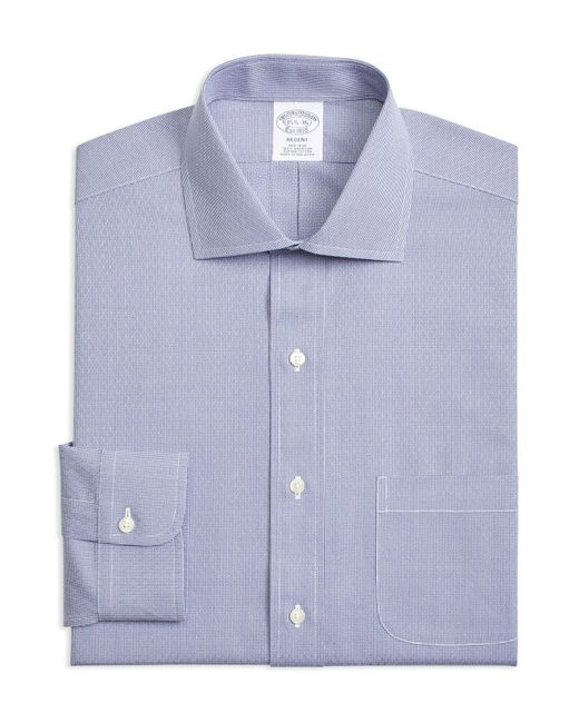 Brooks Brothers - Blue Textured Classic Fit Dress Shirt for Men - Lyst