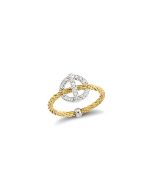 Alor - Metallic Diamond Yellow Cable Ring - Lyst