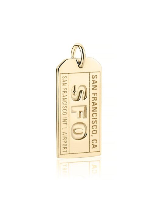 Jet Set Candy - Metallic Sfo San Francisco Luggage Tag Charm - Lyst
