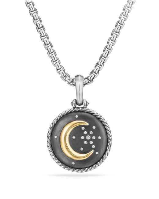 David Yurman - Metallic Cable Collectibles Moon And Star Amulet With Diamonds And 18k Gold - Lyst