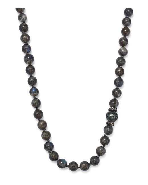 Armenta | Multicolor Carved Tahitian South Sea Black Pearl And Champagne Diamond Necklace | Lyst